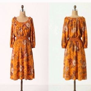 Anthropologie silk dress Moulinette Soeurs midi